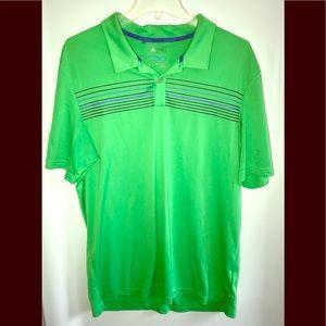 Men's adidas climacool polo sz. L green stripe